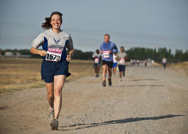 radost z uběhnutého závodu