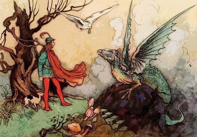 Kresba prince a draka