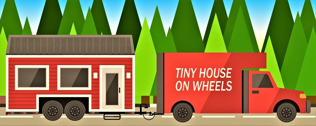 mobilní dům vezou